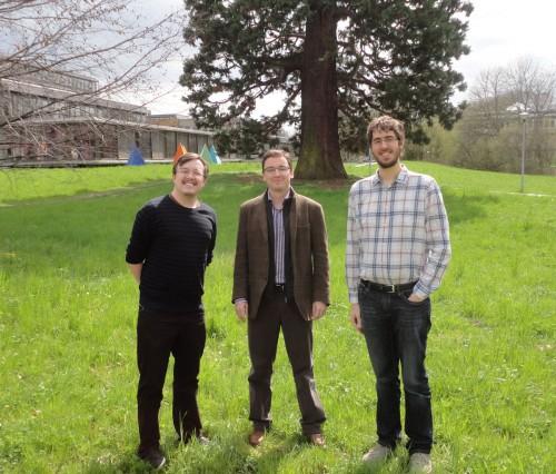Konstantin Büchler, Jordi Pià et moi-même à l'Université de Lausanne, le 4 avril 2014