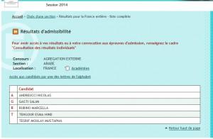 Admissibilité 2014