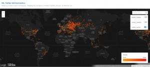 Carte de la Diaspora numérique russe sur Twitter