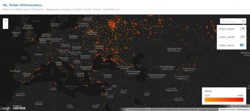 DataViz eDiaspora russe sur CartoDB (Europe)