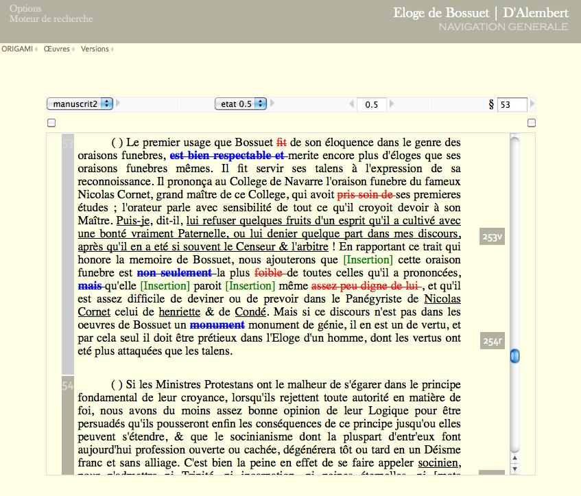 G n tique textuelle d alembert l encyclop die al for Copie ecran