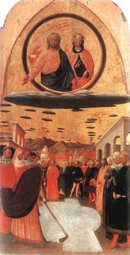 Masolino, Trittico della Madonna delle Neve, Mittelteil des Tryptichons mit dem Schneewunder, 1423/1428