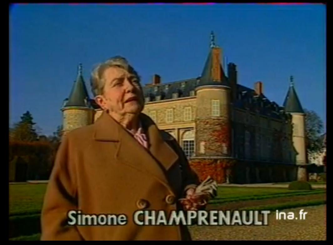 Interlocutrice non identifiée, qui raconte des anecdotes sur le château de Rambouillet. En week-end à la carte 02/12/1982