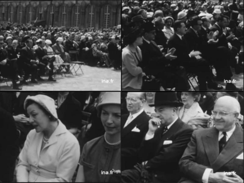 Inauguration des nouvelles grilles du château de Versailles 26/06/1956