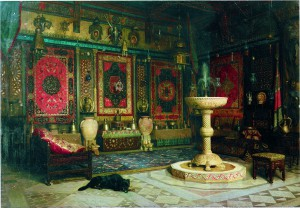 E. Duranton, Chez la famille Goupil. Le « Salon oriental » d'Albert Goupil, vers 1884, huile sur toile, 64 x 91 cm, coll. part.
