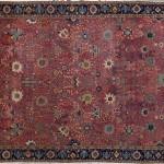 Tapis « vase », Iran (Kerman), XVIIe siècle, coton, laine et soie, 523 x 350 cm, Londres, V & A (acq. 1897, anc. coll. William Morris).