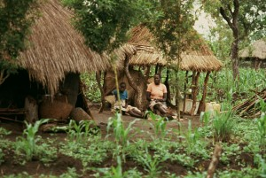 Village on the edge of Yei, Equatoria, Southern Sudan