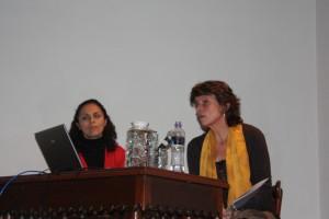 Ana Roda Fornaguera et Myriam Marin, présentent les collections de la BNE et la politique à venir