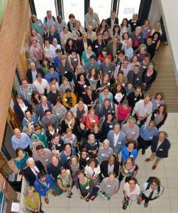 Photo des participants, Brighton, juillet 2013. Avec l'aimable autorisation de Stuart G. Robinson, University of Sussex.