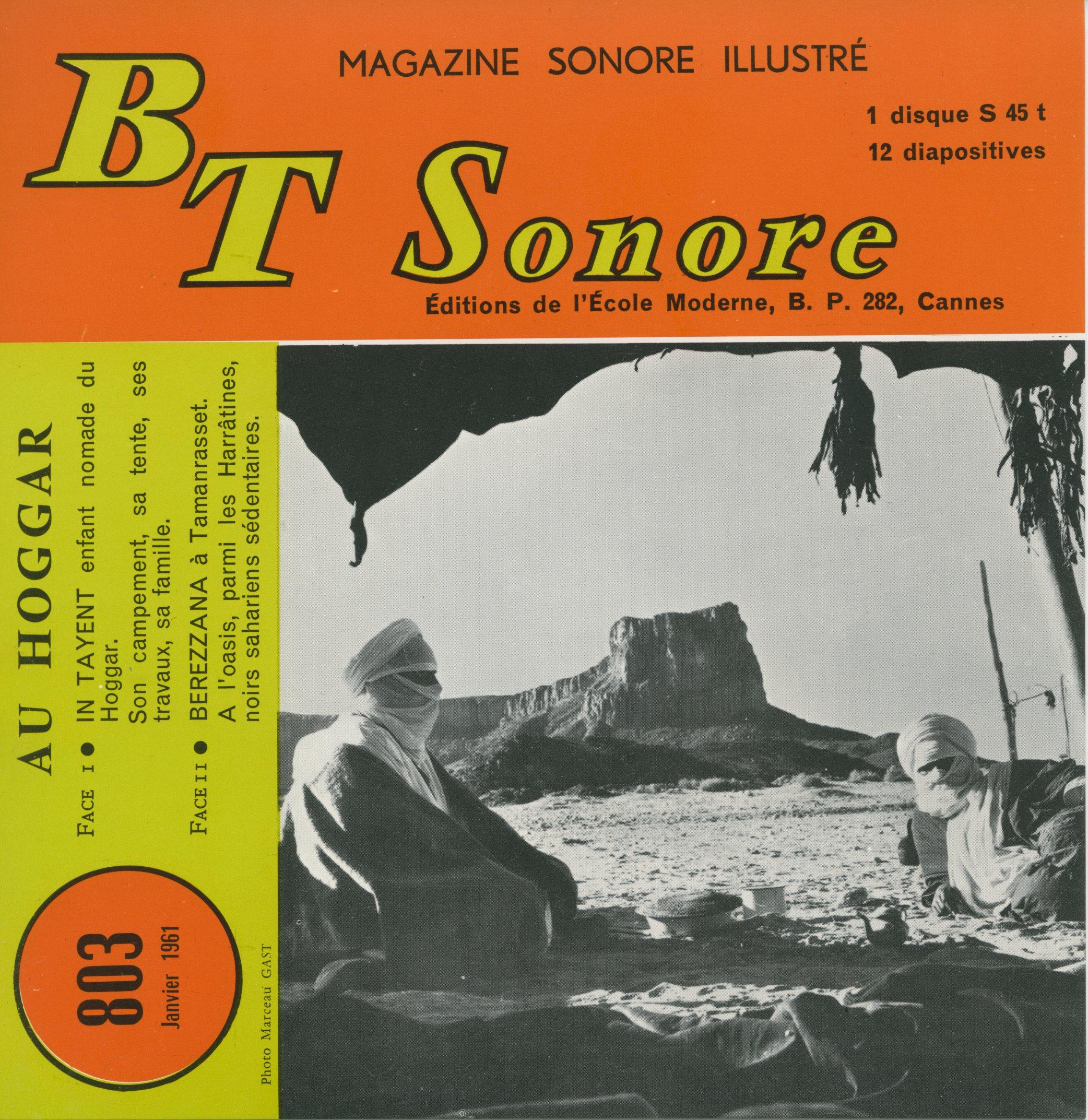 "BT sonore ""Au hoggar"""