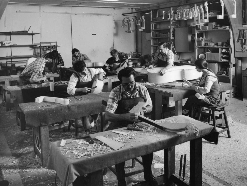 Atelier de la Sofraluth à Mirecourt, 1982 (cliché de Jacques D. Braconnier)