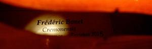 Etiquette du luthier Frédéric Bonnet