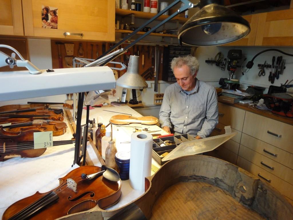 Pierre Caradot dans son atelier, Paris, 2016