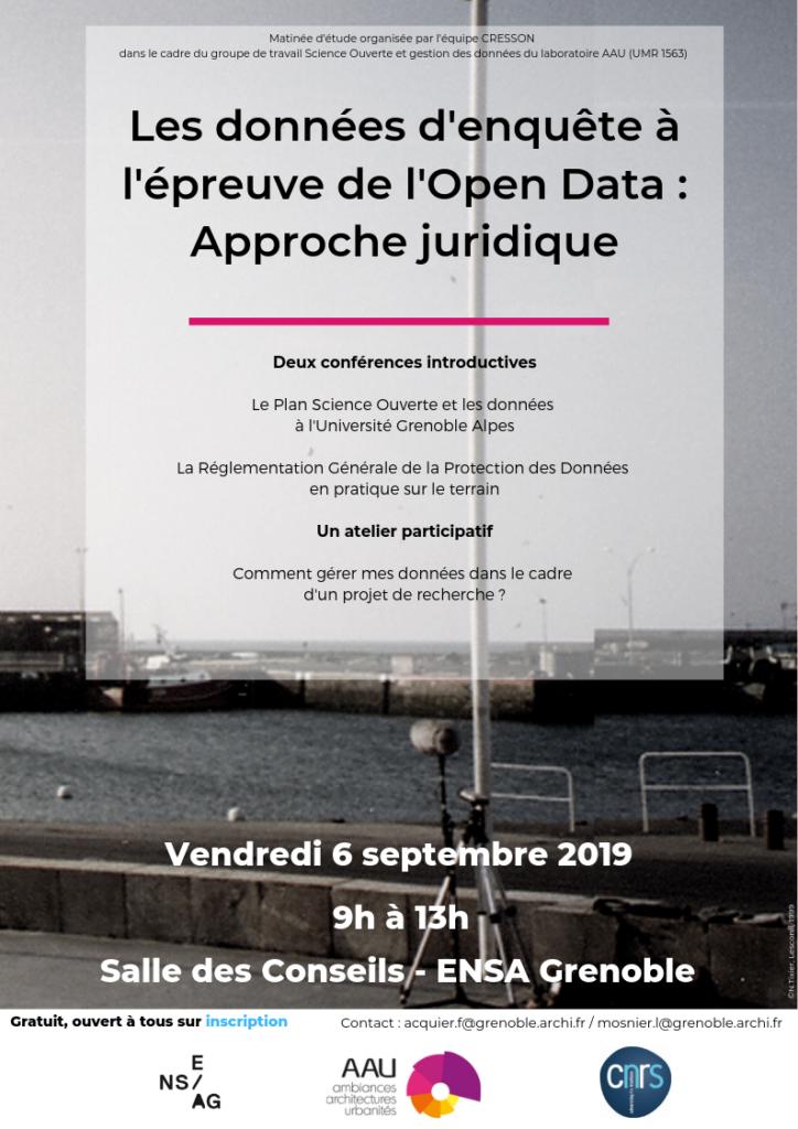 affiche de la journée sur les données du 6 septembre 2019