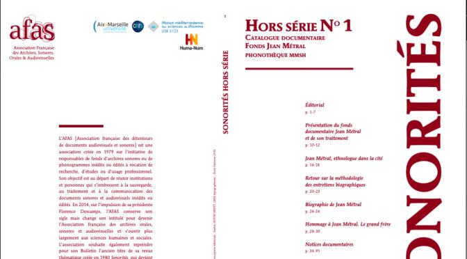 VOLUME 1 SONORITES HORS SERIE