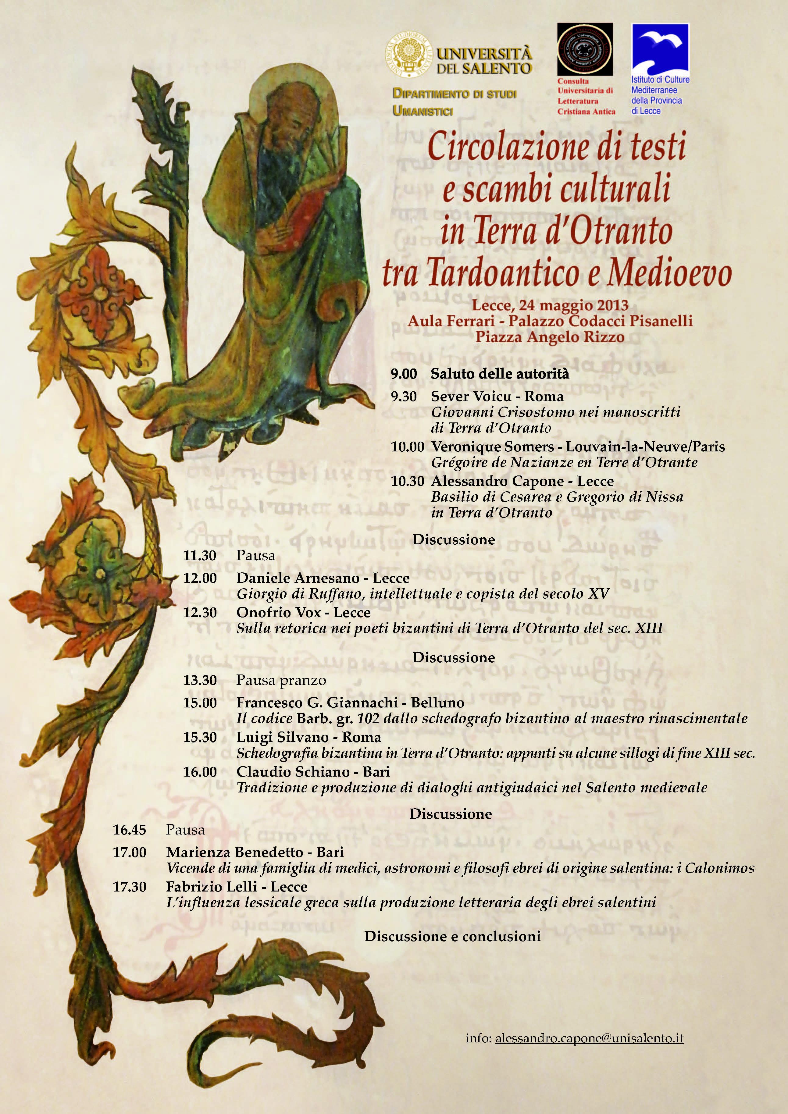 Circolazione di testi e scambi culturali in Terra d'Otranto tra Tardoantico e Medioevo-1
