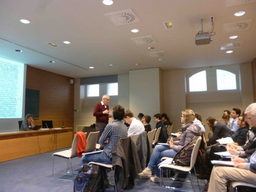 Conférence sur l'histoire du livre grec