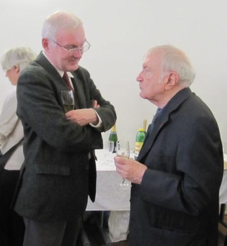 Deux directeurs de l'IRHT: François Bougard et Louis Holtz
