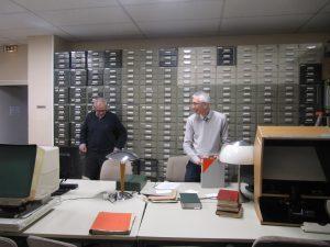 """Le """"mur des microfilms"""" de la Section grecque"""