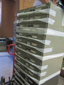 Le déménagement des microfilms