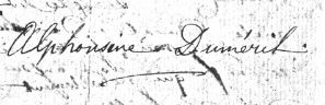 Alphonsine Delaroche-Duméril-1806-à ses beaux-parents