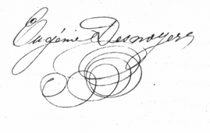 Eugénie Desnoyers-1863-à sa sœur