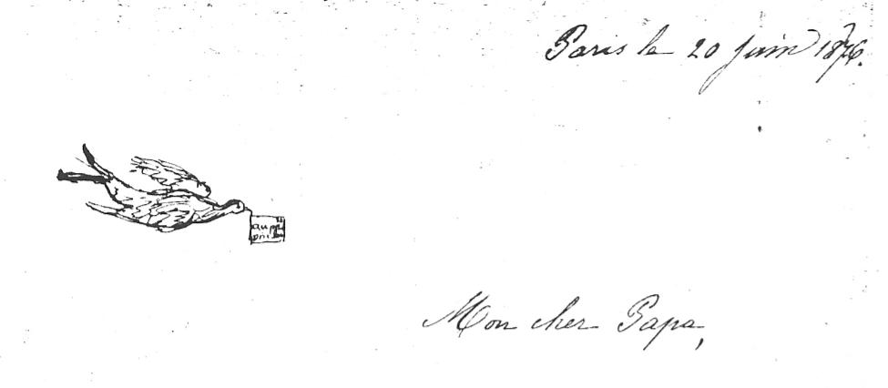 Marie Mertzdorff à son père, 20 juin 1876