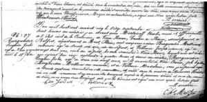 Déclaration de décès le 11 septembre 1865 signée par le maire de Vieux-Thann