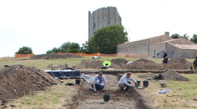 Fouilles archéologiques – site de Broue, Charente-Maritime