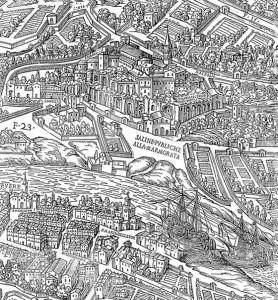 fig. 3 Giovanni Maggi, cartografia di Roma, inizi del '600