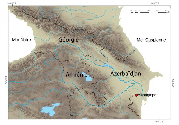 Figure 1 : carte de situation du site d'Alkhantepe (carte M. Poulmarc'h)