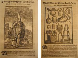 Türckis. Estats- und Krieges-Bericht Nr. 26. Hamburg: Thomas von Wiering, 1683, S. [1]r. Türckis. Estats- und Krieges-Bericht Nr. 79. Hamburg: Thomas von Wiering, 1683, S. [1]r.