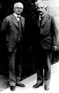 Milikan et Einstein en 1931