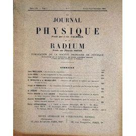 Journal de Physique et le Radium, 1940