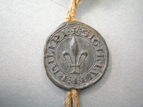 Ill. 2 : Bulle d'un notaire public du roi (1296). © Laurent Macé, tous droits réservés