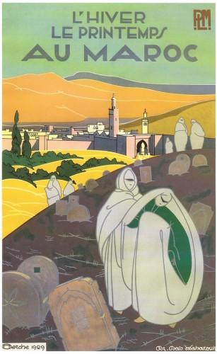 J.H.Derche, PLM L'hiver, le printemps au Maroc - Fez Bab Mabrouk (1929)