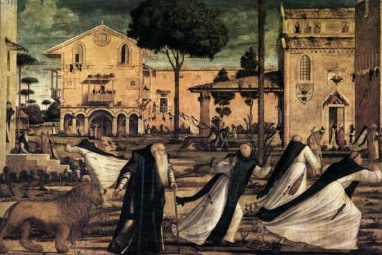 Carpaccio, St Jerome and the Lion (detail), 1502, Scuola di San Giorgio degli Schiavoni, Venice