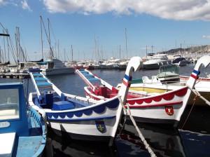Couleurs des deux barques, photographie de Marie-Véronique Amella.