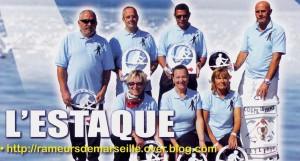 """Equipe de la Fine Lance Estaquéenne, photographie issue du site <a href=""""http://rameursdemarseille.over-blog.com/"""""""