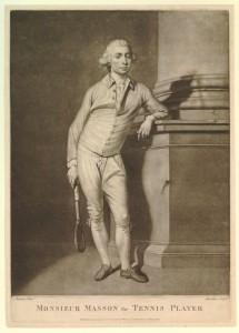 Antoine-Henry Masson (1735-1793, le plus grand maître paumier du XVIIIe siècle, photographie du site jdpfontainebleau