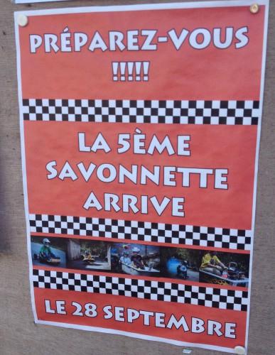Affiche placardée dans les rues du village, photographie de Chloé Rosati-Marzetti (28 septembre 2014)