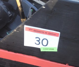 Validation du bolide, photographie de Chloé Rosati-Marzetti (28 septembre 2014)