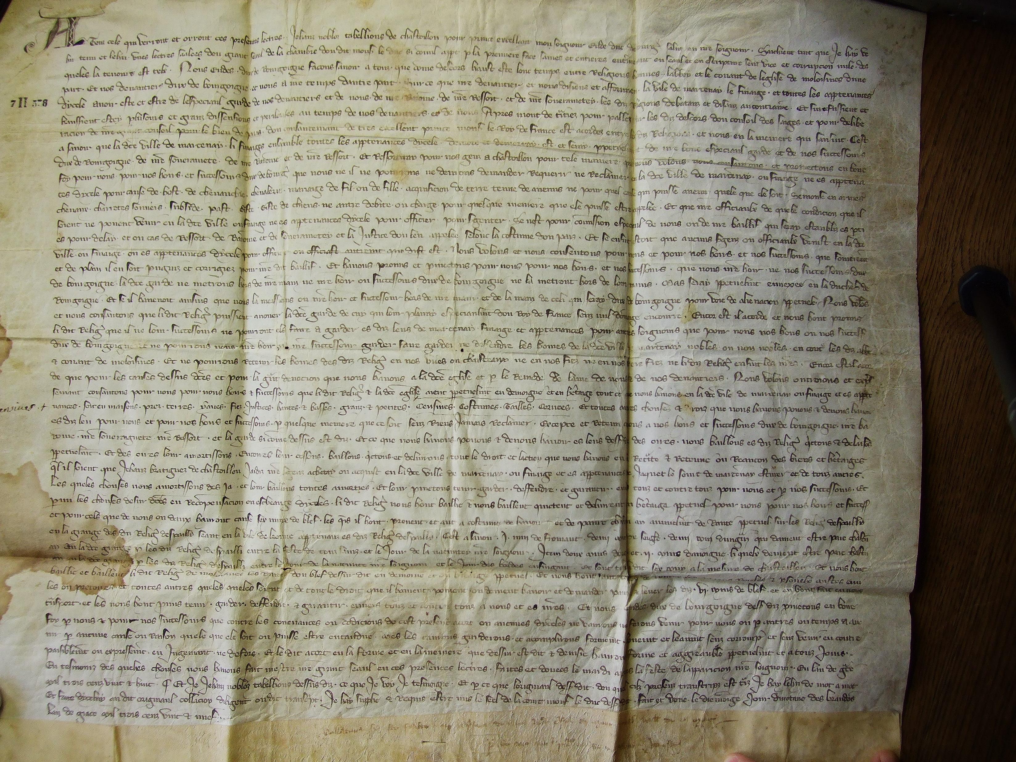Dijon, Archives départementales Côte d'Or, 7 H 578