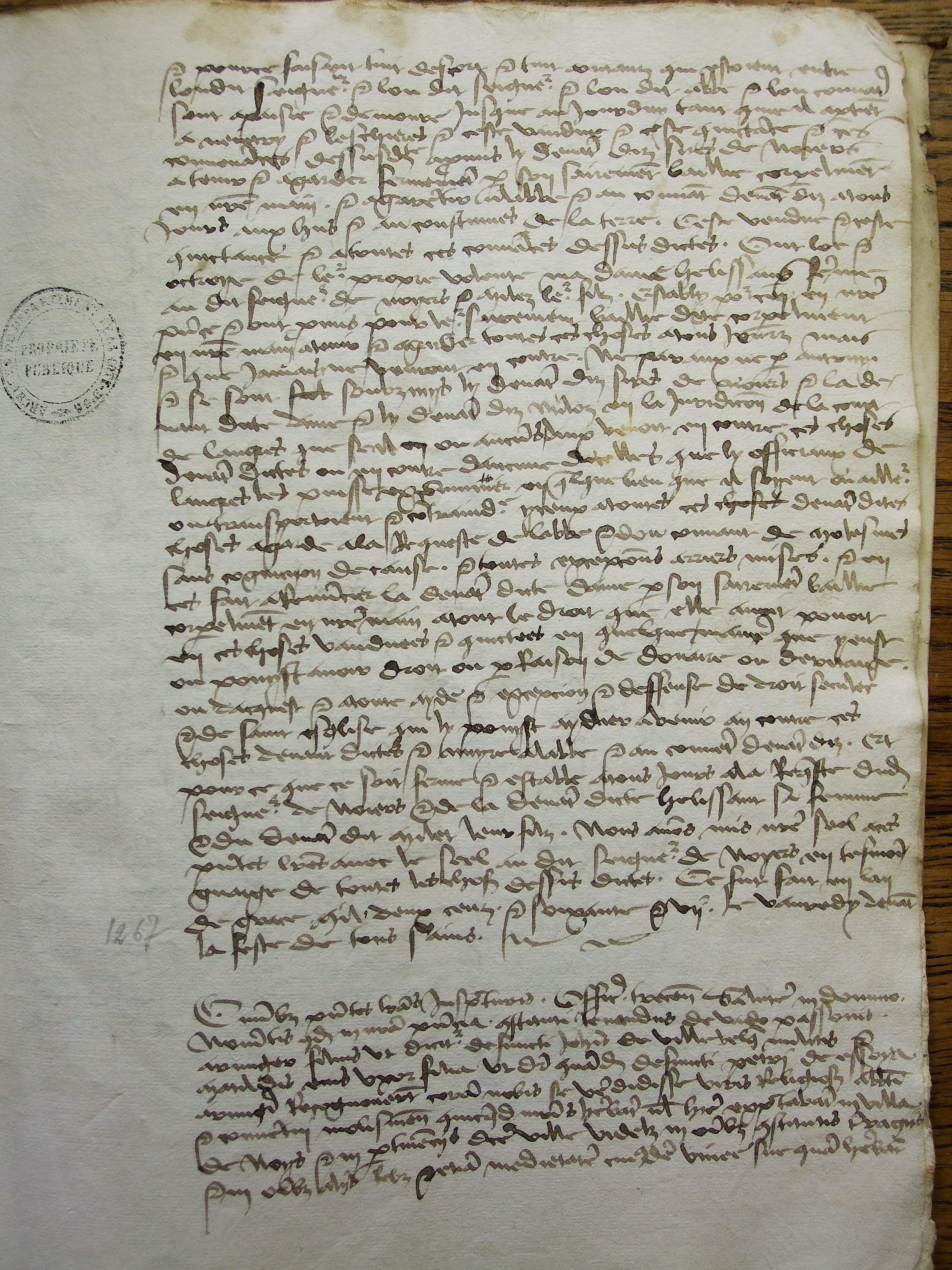 Dijon, Archives départementales de Côte d'Or, 7 H 641