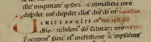 Exemple de rejet : rubrique sur trois lignes (ms. Colmar, BM, 2)