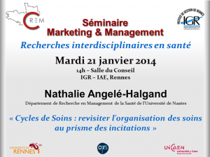 Séminaire Marketing & Management