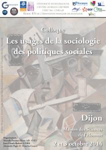Affiche Les usages de la sociologie des politiques sociales