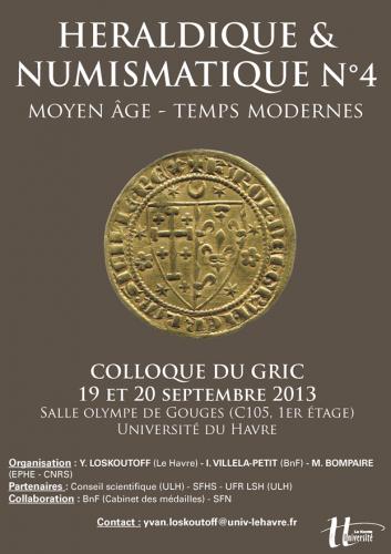affiche heraldique numismatique Le Havre 2013