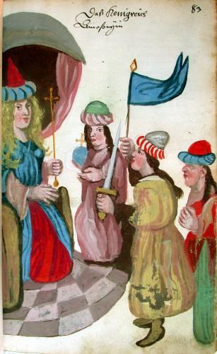 Hluboká (vorm. Frauenburg), Schlossbibliothek, Inv. Cod. 9729, S. 83: Das Königreich Amazonien