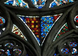 Armes d'Alphonse de Poitiers. Poitiers, église Sainte-Radegonde